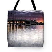 Drawbridge At Sunset Tote Bag