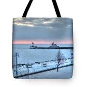 Duluth Winter Sunrise  Tote Bag
