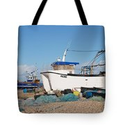 Dungeness Fishing Boats Tote Bag