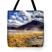 Dusty Desert Road Bolivia Tote Bag