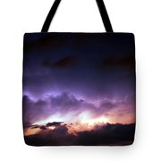 Dying Storm Cells With Fantastic Lightning Tote Bag