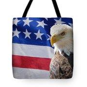 Eagle And Flag Tote Bag