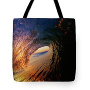 Early Morning Wave Breaking Tote Bag