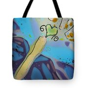 Earth Love Butterfly Tote Bag