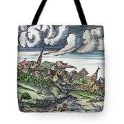 Earthquake, 1550 Tote Bag