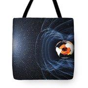 Earths Magnetic Field Tote Bag