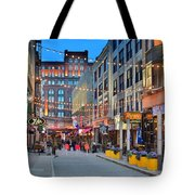 East Fourth Street In Cleveland Tote Bag