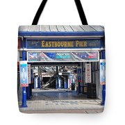 Eastbourne Pier Fire July 2014 Tote Bag