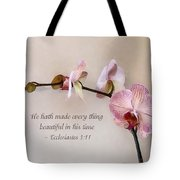 Ecclesiastes 3 11 He Hath Made Everything Beautiful Tote Bag