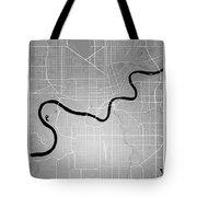 Edmonton Street Map - Edmonton Canada Road Map Art On Colored Ba Tote Bag