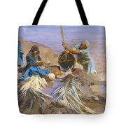 Egyptians Raising Water From The Nile Tote Bag