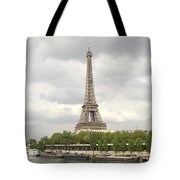 Eiffel Tower And The Seine Tote Bag