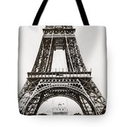 Eiffel Tower Construction Tote Bag