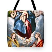 El Greco's Madonna And Child With Saint Martina And Saint Agnes Tote Bag