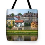 Elbe River Town Tote Bag