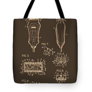 Electric Razor Patent 1940 Tote Bag