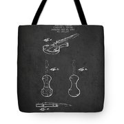 Electric Violin Patent Drawing From 1960 Tote Bag