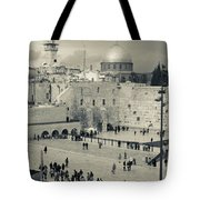Elevated View Of The Western Wall Tote Bag