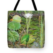 Emerald Lily Pond Tote Bag
