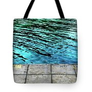 Empty Pier And River Water Tote Bag