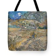 Enclosed Wheat Field With Peasant  Tote Bag