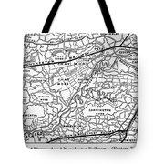 England Railroad Map Tote Bag
