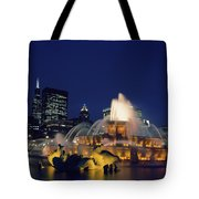 Evening At Buckingham Fountain - Chicago Tote Bag