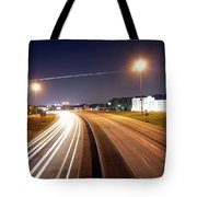 Evening Traffic On Highway Tote Bag
