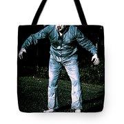 Evil Dead Horror Zombie Walking Undead In Cemetery Tote Bag
