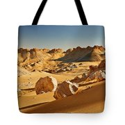 Expressive Landscape With Mountains In Egyptian Desert  Tote Bag