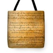 Ezekial 25 17 Tote Bag