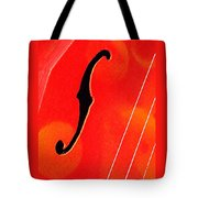 F Hole Abstract Tote Bag