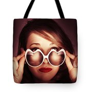 Face Of Cool Fashion Woman In Retro Summer Love Tote Bag