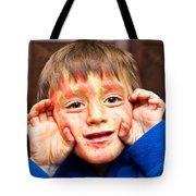 Face Paint Tote Bag