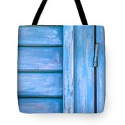 Faded Blue Shutter IIi Tote Bag by David Letts