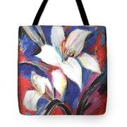 Fair Pure Fragile White Lilies Tote Bag