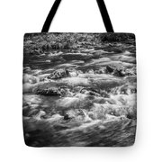 Fall Colors Stream Great Smoky Mountains Painted Bw Tote Bag