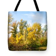 Fall On The Lake Tote Bag