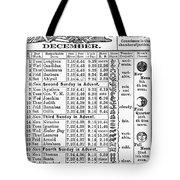 Family Almanac, 1874 Tote Bag