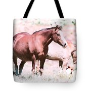 Family Of Horses Tote Bag