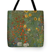 Farm Garden With Sunflowers Tote Bag