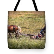 Farming With Horses Tote Bag