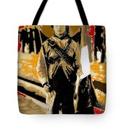 Female Soldier With Mexican Flag  Unknown Location C. 1914-2014 Tote Bag