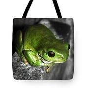 Fence Frog Tote Bag