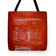 Fender Floating Tremolo Patent Drawing From 1961 - Red Tote Bag