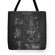 Fender Guitar Patent Drawing From 1961 Tote Bag