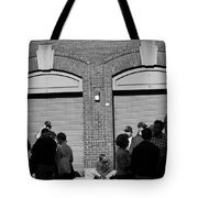 Fenway Park - Fans And Locked Gate Tote Bag