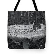 Field Mouse On Mushroom Cap  Tote Bag