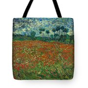 Field With Poppies  Tote Bag