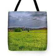 Fields Of Rapeseed In Lower Silesia Tote Bag